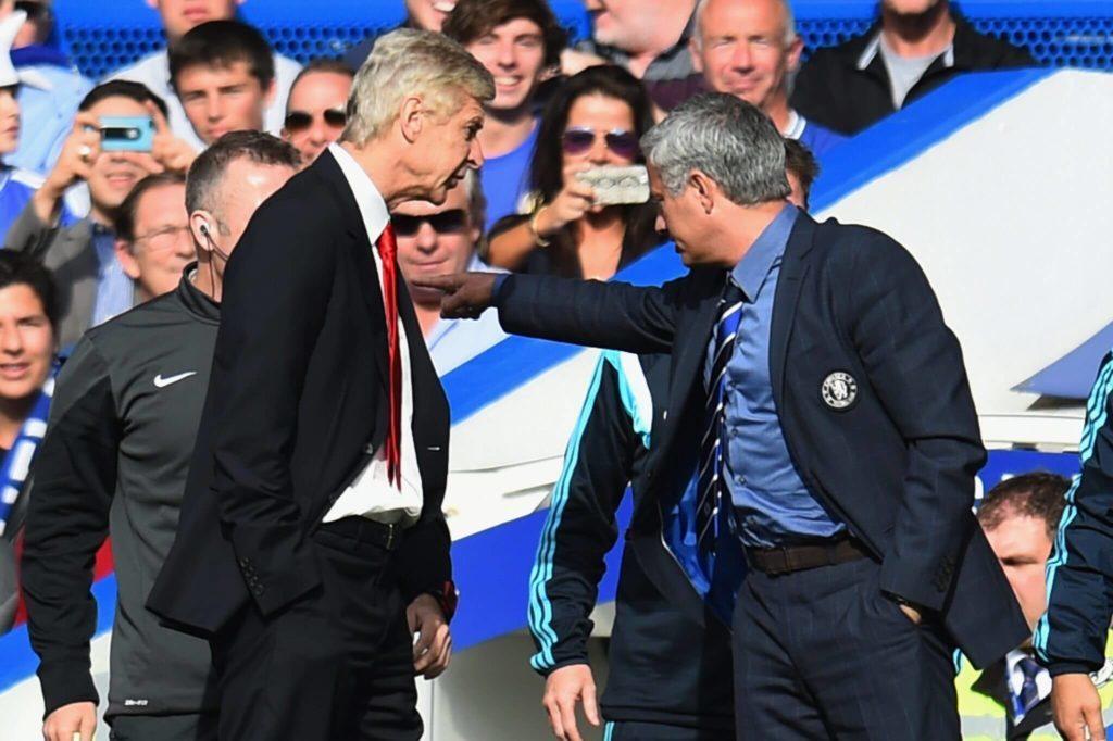 A very special relationship - José Mourinho and Arsène Wenger.