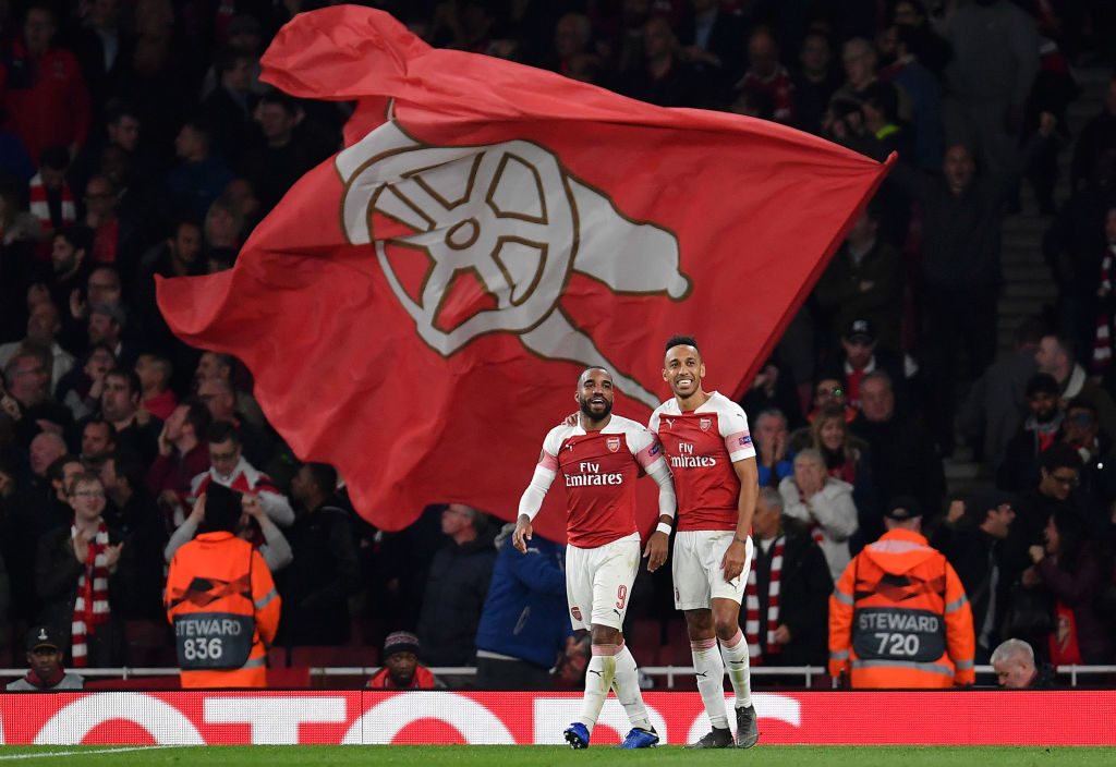 The absence of permanent manager hasn't stopped Auba or Lacazette from performing well at Arsenal