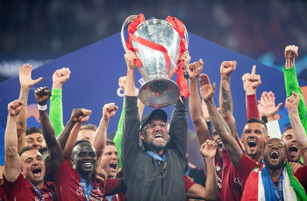 Endlich am Ziel: Im 3. Anlauf gewann Jürgen Klopp als Trainer am 1. Juni 2019 und mit dem FC Liverpool in Madrid gegen Tottenham Hotspur (2:0) die Champions League.