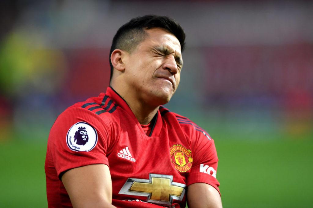 Alexis Sánchez agierte bei Manchester United oft unglücklich...