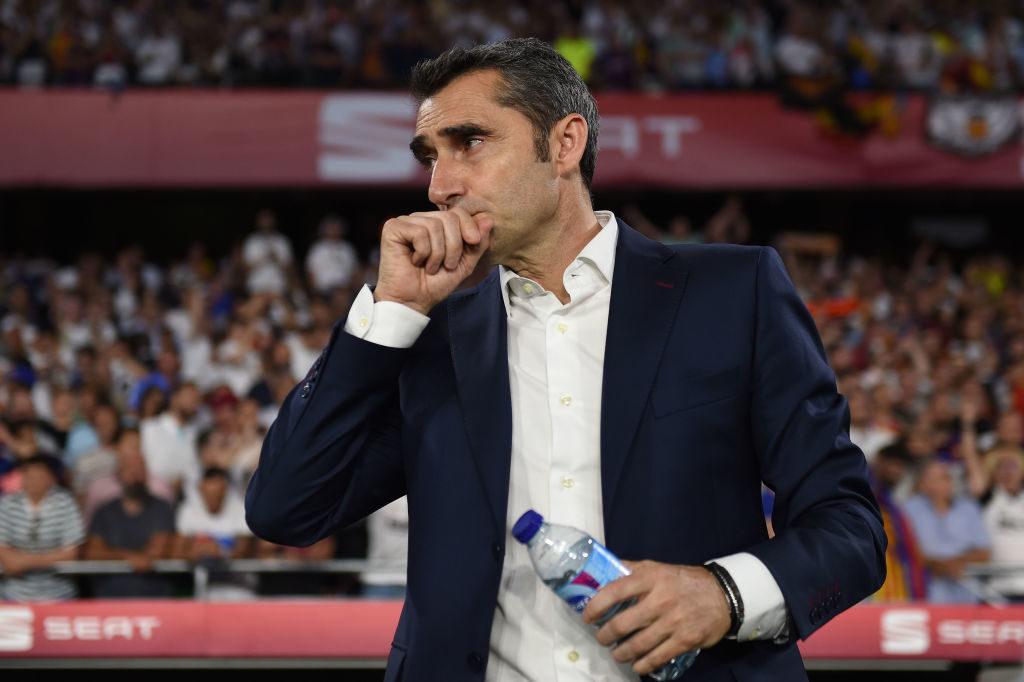 Barcelona Head coach Ernesto Valverde of FC Barcelona