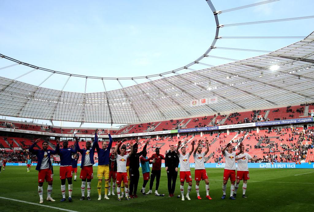 Auswärtsjubel von RB Leipzig? Das wollen, wie im Bild am 6. April 2019 bei Bayer Leverkusen, im wahrsten Sinne des Wortes die Wenigsten sehen...