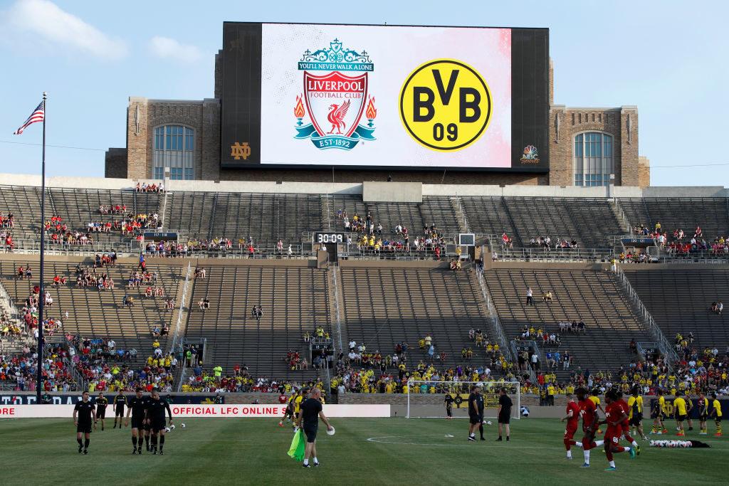 Das Notre Dame University Stadium war alles andere als ein gewöhnlicher Austragungsort für das Testspiel FC Liverpool gegen Borussia Dortmund...