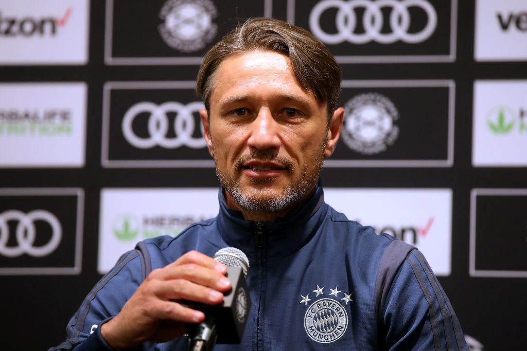 Auskunft über Neuzugänge: Bayern-Coach Niko Kovac bei einer Pressekonferenz in Houston, Texas.
