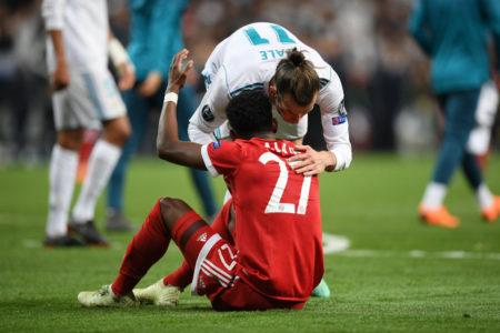 Spielen Gareth Bale und David Alaba (vorn) bald zusammen beim FC Bayern München?