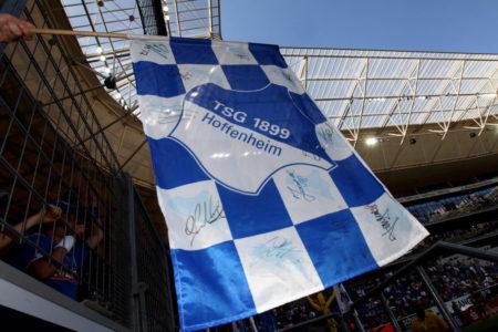 Die Fahne der TSG Hoffenheim.