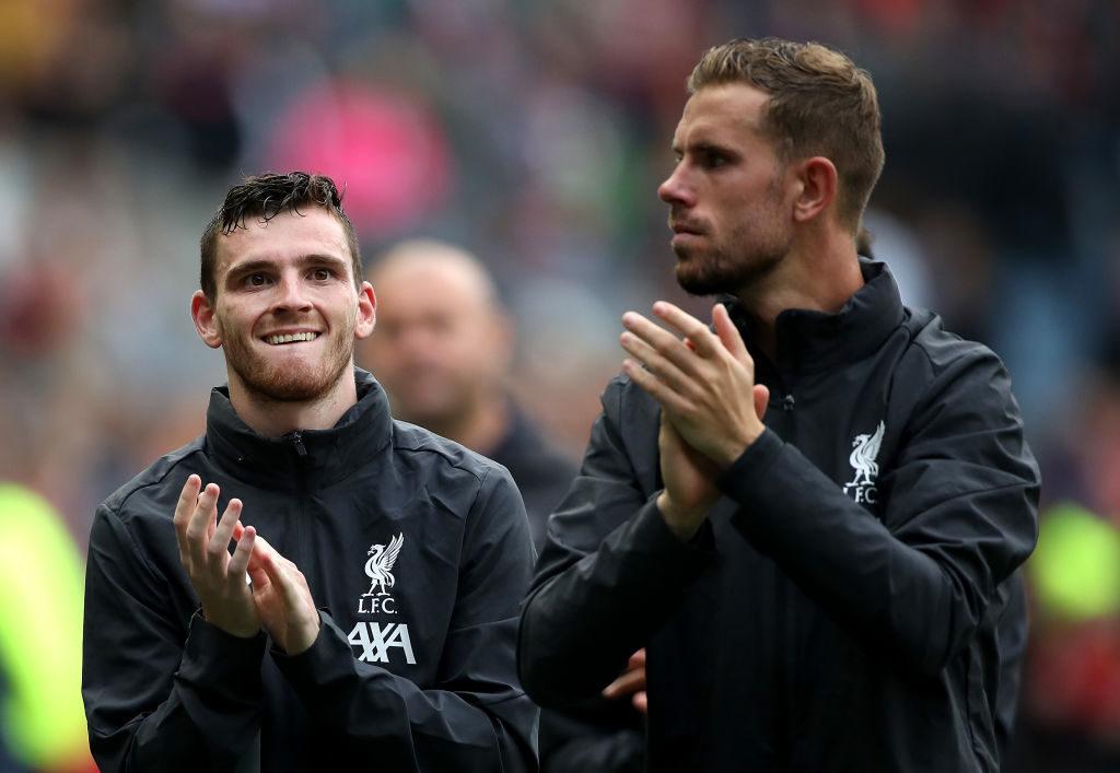 Champions-League-Sieger Liverpool mit Andy Robertson (l.) und Jordan Henderson konnte in Edinburgh nicht überzeugen...