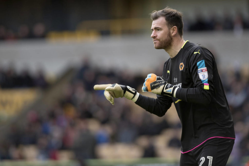 WOLVERHAMPTON, ENGLAND - NOVEMBER 5: Andy Lonergan of Wolverhampton Wanderers during the Sky Bet Championship match between Wolverhampton Wanderers and Derby County at Molineux Stadium on November 5, 2016 in Wolverhampton, England. (Photo by Nathan Stirk/Getty Images)