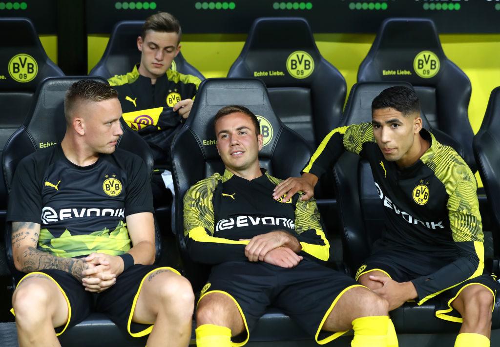 Mario Götze (m.) ist bei Borussia Dortmund in dieser Saison zum Kurzarbeiter geworden..