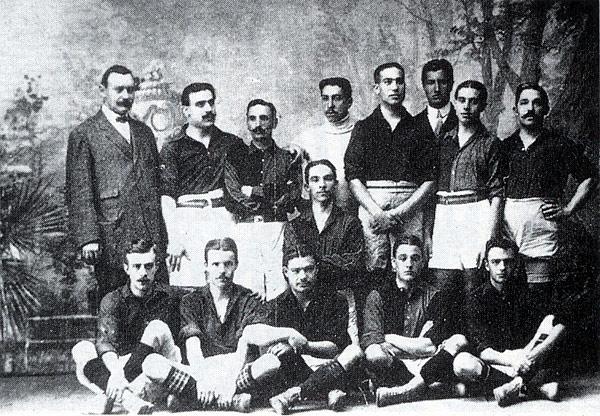 Die Mannschaft des FC Barcelona im Jahr 2010.