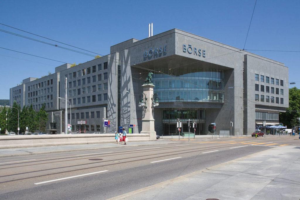 Das Gebäude der Börse in Zürich.