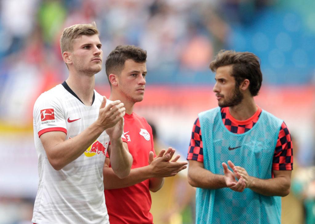 Timo Werner bedankt sich nach dem 2:1 gegen Eintracht Frankfurt bei den Fans von RB Leipzig - und das wird wohl noch länger so bleiben...