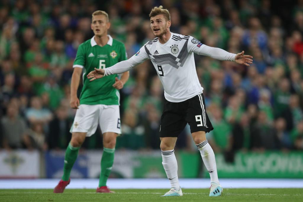 Timo Werner (r.) konnte auch in Nordirland im deutschen Spiel keine offensiven Akzente setzen.