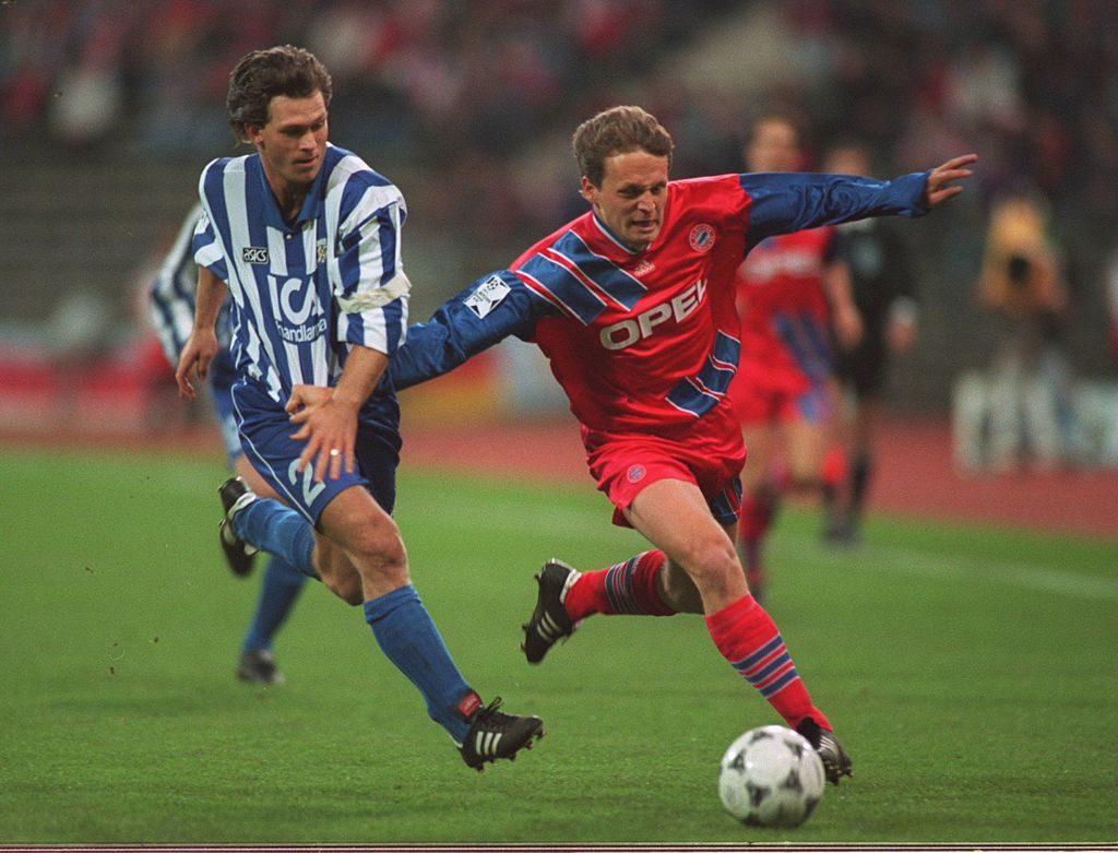 Champions League 1994/95: Das Viertelfinal-Hinspiel des FC Bayern München (mit Marcel Witeczek) gegen den IFK Göteborg (0:0) war ein absoluter Langweiler...