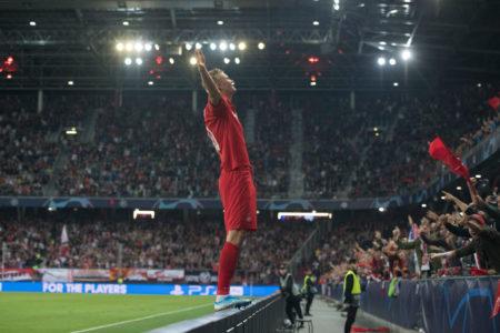 Erling Braut Haaland nach dem 2:0 für RB Salzburg gegen KRC Genk bei der Champions-League-Premiere des österreichischen Serienmeisters.
