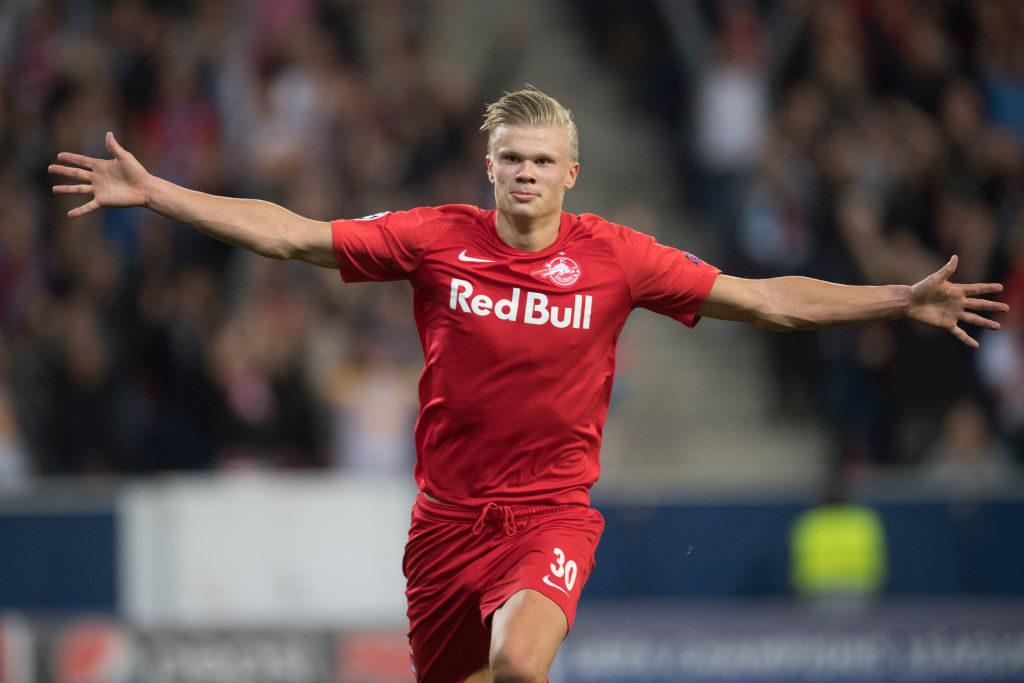 Erling Braut Haaland schoss RB Salzburg bei der Premiere gegen KRC Genk in der Champions League (6:2) mit 3 Toren zum Sieg