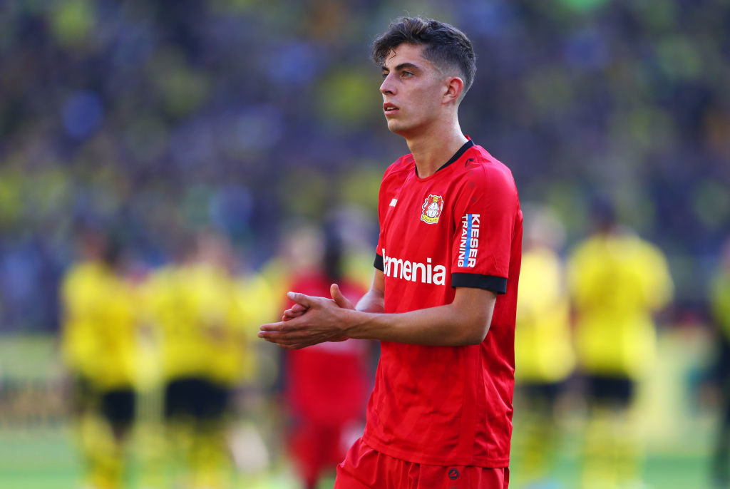 Kai Havertz nach Bayer Leverkusens 0:4-Niederlage bei Borussia Dortmund am 4. Spieltag der Bundesliga-Saison 2019/2020.