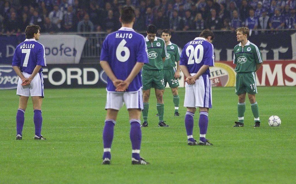 Schalke hält den Atem an: Champions League gegen Panathinaikos Athen an einem Tag, an dem an Fußball nicht zu denken war, am 11. September 2001, dem Tag der schlimmen Terror-Anschläge auf die USA