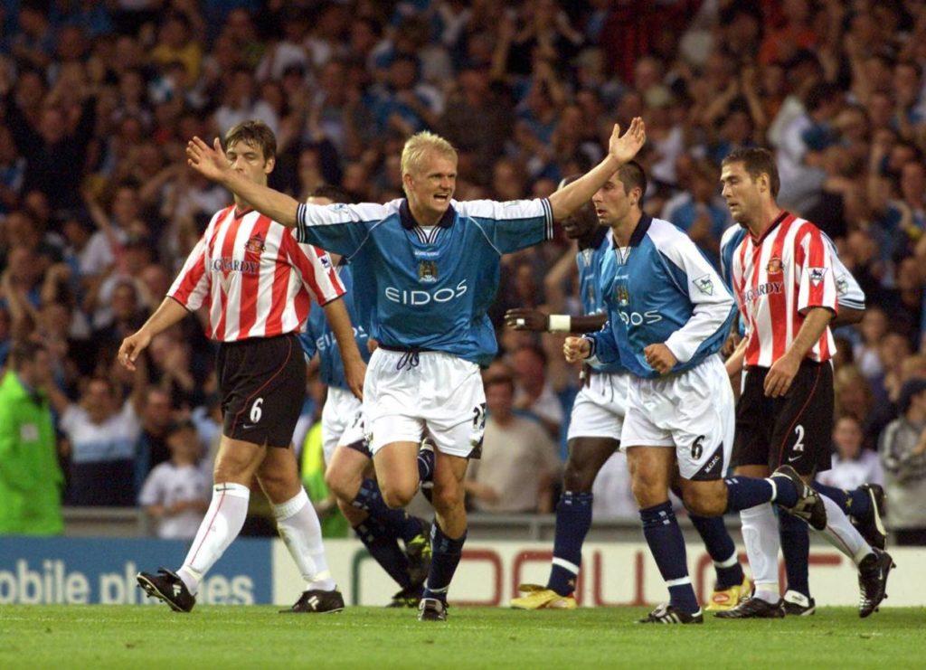 Wie der Vater, so der Sohn: Alf Inge Haland jubelte für Manchester City