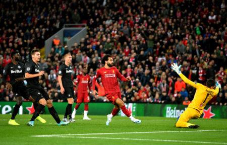 Mit diesem Treffer zum 4:3 gegen den FC Salzburg bewahrte Mo Salah den FC Liverpool vor dem kompletten Fehlstart in die Champions-League-Saison.