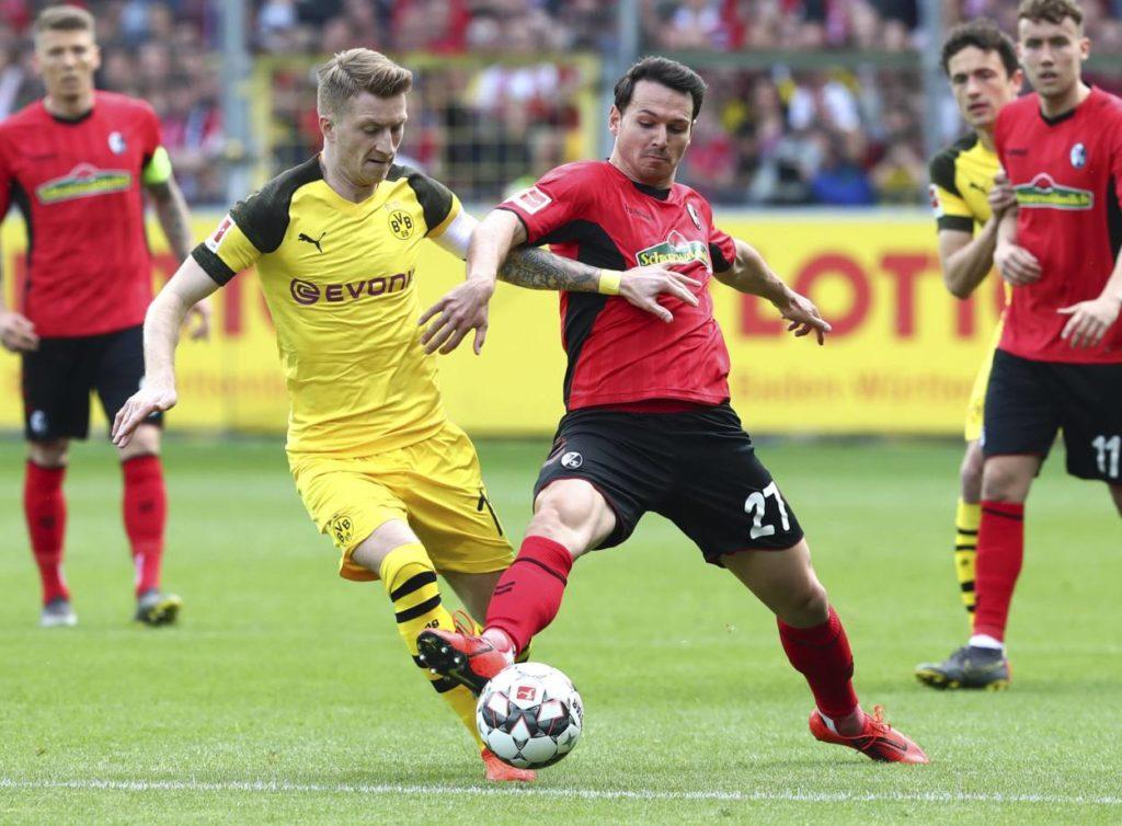 Marco Reus blieb beim 2:2 in Freiburg vor der Länderspielpause doch arg zurückhalten...