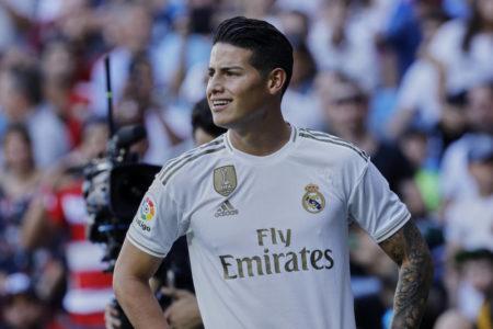 Ex-Bayern-Spieler James Rodriguez im Spiel Real Madrid gegen FC Granada (4:2) am 5. Oktober 2019.