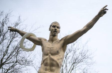 Zlatan Ibrahimovic Statue