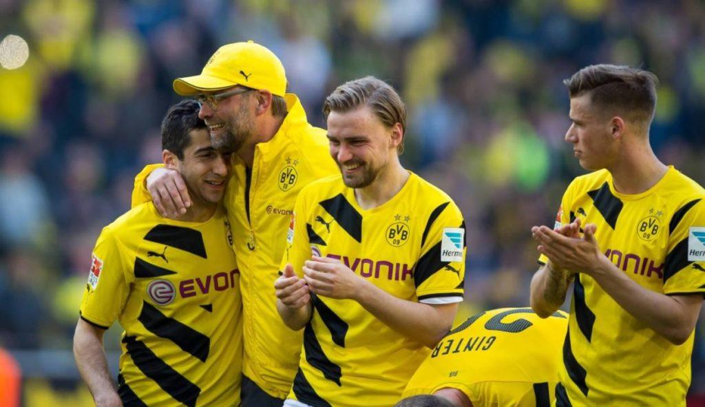 Er prägte Borussia Dortmund als Trainer und als Mensch: Jürgen Klopp (m.), im Bild mit Henrikh Mkhitaryan und Marcel Schmelzer.