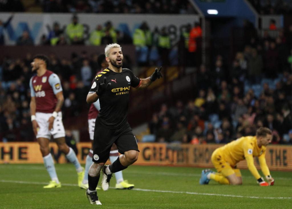 Sergio Agüero Aston Villa Manchester City 1:6
