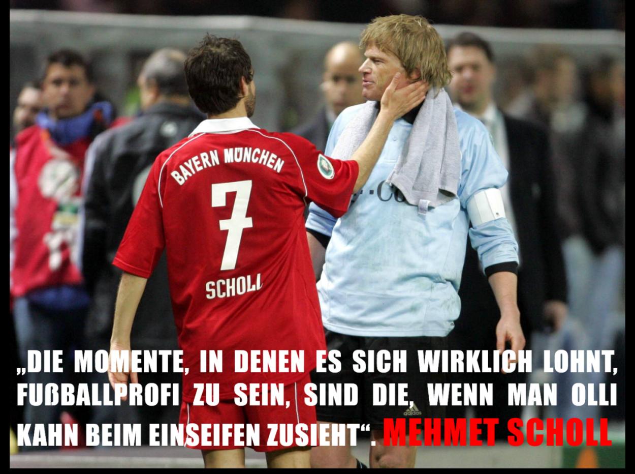 Mehmet Scholl und Oliver Kahn im Austausch unter der Dusche