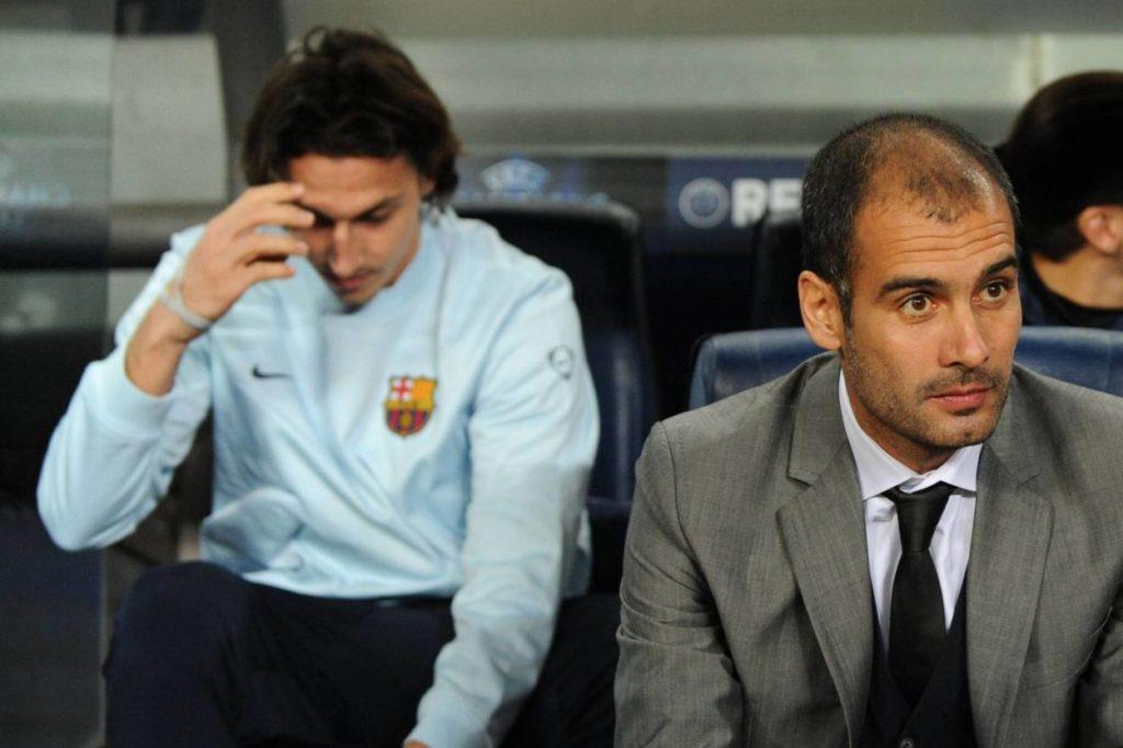 Zlatan Ibrahimovic Pep Guardiola FC Barcelona