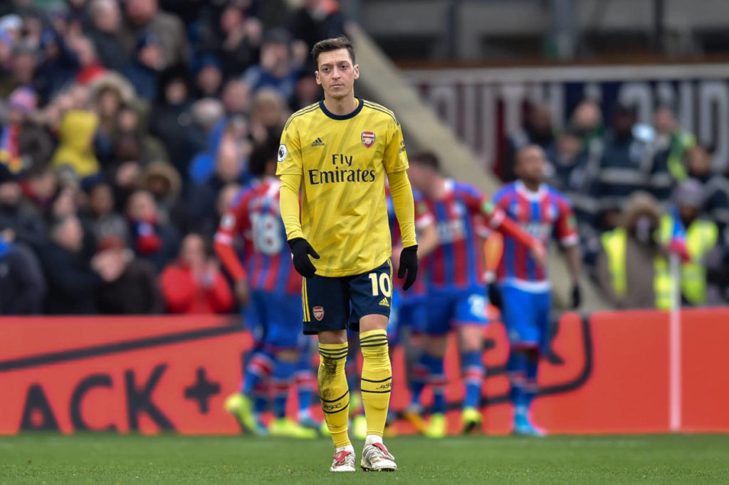 Mesut Ozil during Crystal Palace Vs Arsenal