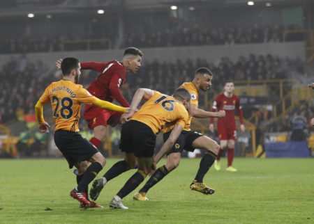 Roberto Firmino Wolverhampton Wanderers - FC Liverpool 1:2