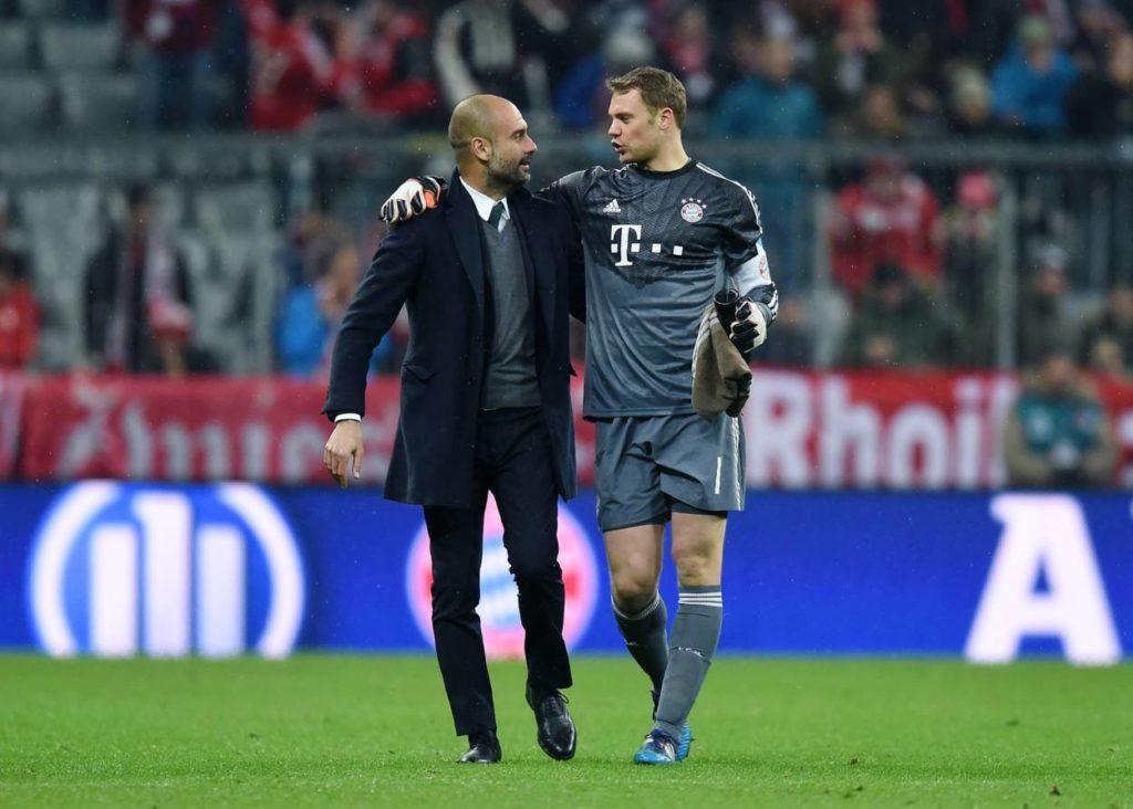 Pep Guardiola Manuel Neuer