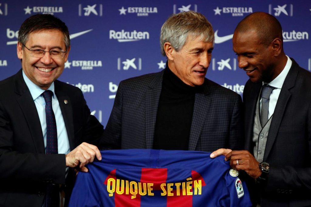 Eric Abidal FC Barcelona Quique Setien