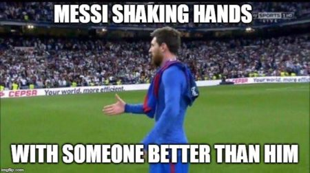 Messi Handshake Meme