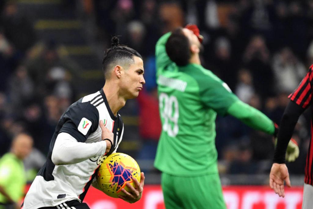 Cristiano Ronaldo AC Mailand - Juventus Turin 1:1
