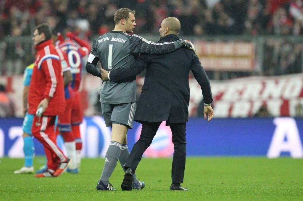 Neuer, Guardiola, Bayern