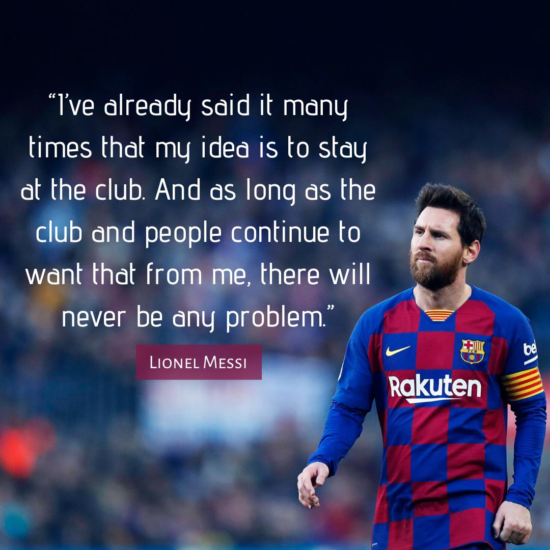 Messi Barcelona Quote
