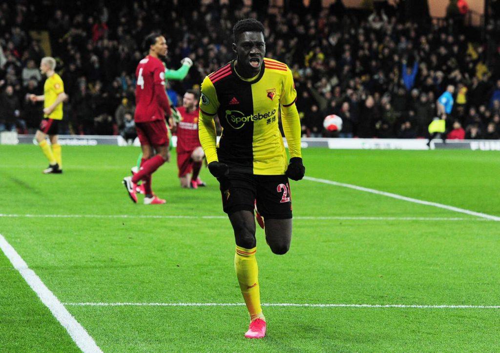 Ismaila Sarr FC Watford - FC Liverpool 3:0