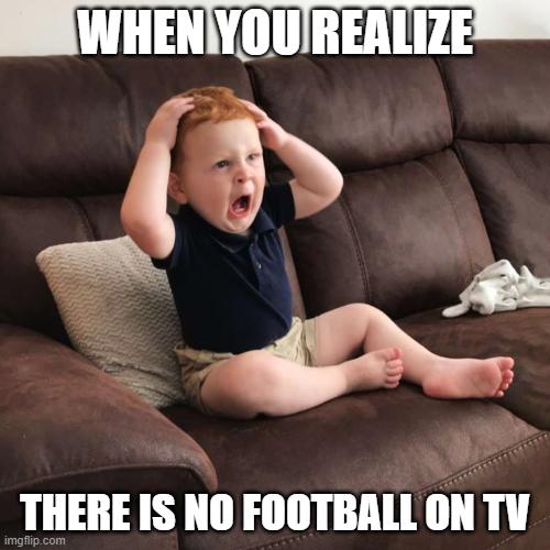 no football on tv corona meme