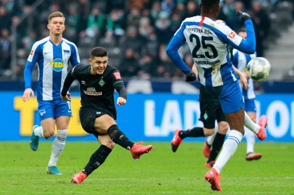 Rashica schießt für Werder Bremen gegen Hertha BSC