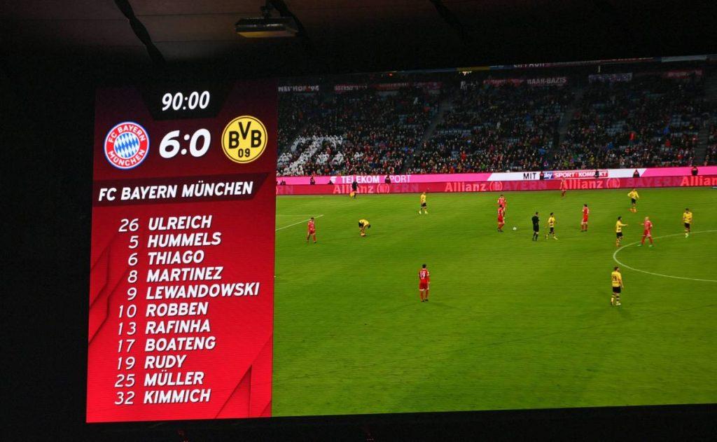 Bayern München, Borussia Dortmund, Endstand, Anzeigetafel