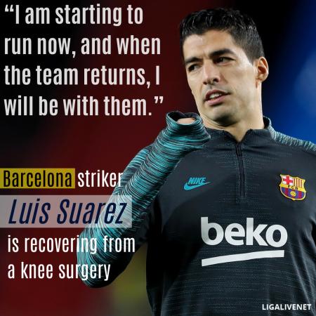 Luis Suarez knee surgery