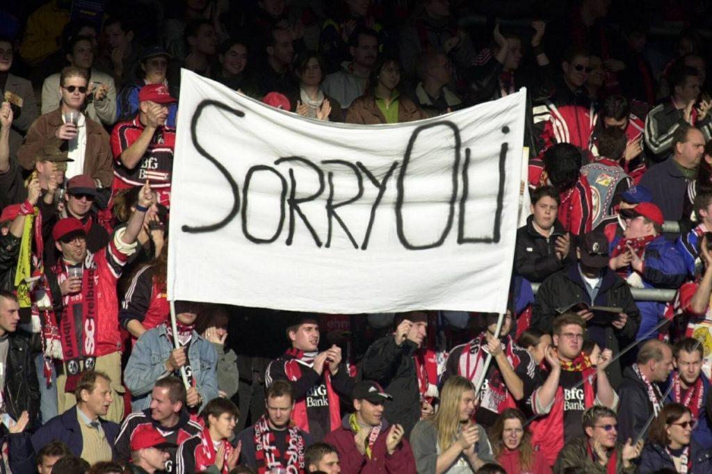 Entschuldigung der SCF-Fans gegenüber Oliver Kahn.