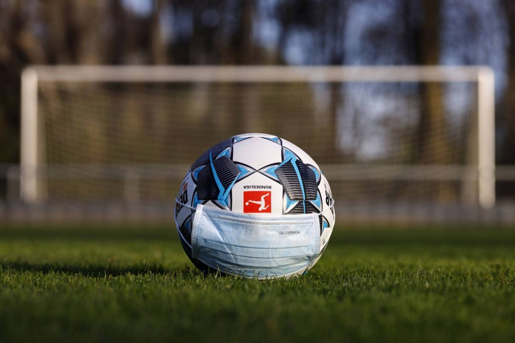 FIFA, Ball, Bundesliga, Mundschutz, Corona