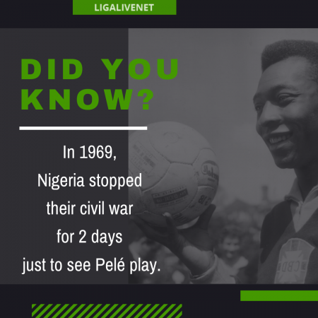 Pele stopped a civil war in Nigeria