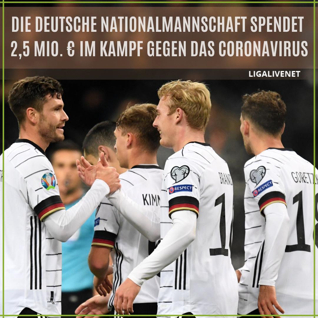 Die deutsche Nationalmannschaft donierte 1 Coronavirus