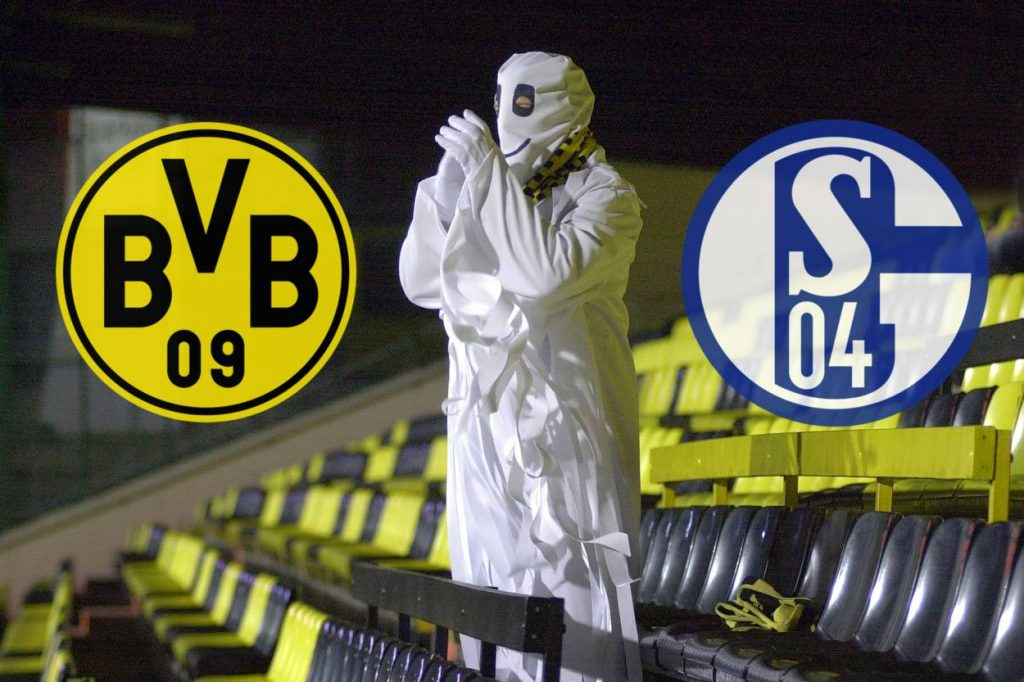 Auch das Revierderby Borussia Dortmund-FC Schalke 04 wird 2020 ein 'Geisterspiel'.