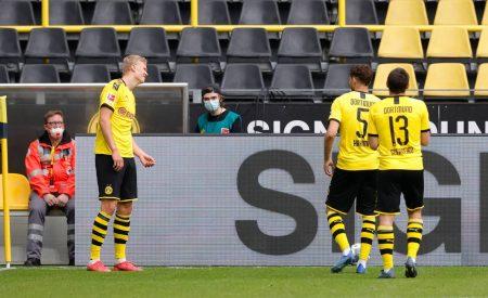 Erling Haaland scored first post-corona goal
